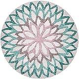 Nicole Knupfer Alfombra redonda con diseño de mandala, estilo vintage, lavable, para salón,...